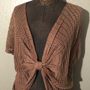 Venus bow front light knit top